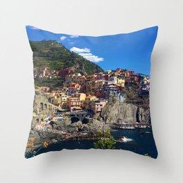 Manarola Cinque Terre Italy Throw Pillow