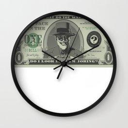 Illegal Tender Wall Clock