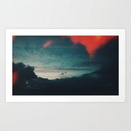 A Flock Flare I Art Print