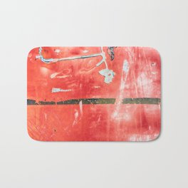Etched Scratchings of a Mad Red Monk Bath Mat