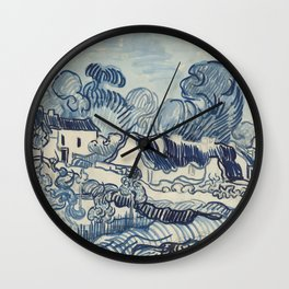 Landscape with Houses Wall Clock