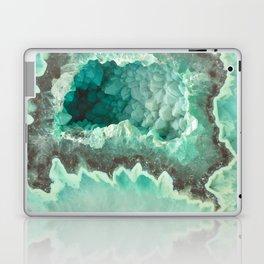 Minty Geode Crystals Laptop & iPad Skin