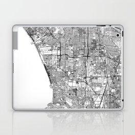 Los Angeles White Map Laptop & iPad Skin