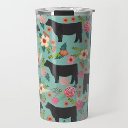 Show Steer cattle breed floral animal cow pattern cows florals farm gifts Travel Mug