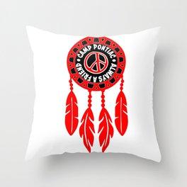 CAMP PONTIAC DREAM CATCHER Throw Pillow