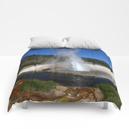 Thermal And Geyser Field Yellowstone NP Comforters