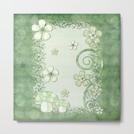 Chantily Whimsical Mixed Media Metal Print