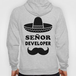 Señor Developer (Senior Developer) Black Print Hoody