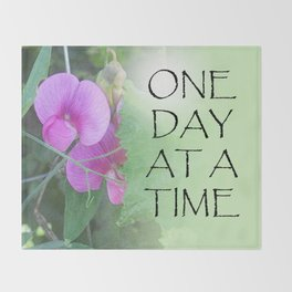 One Day at a Time Sweet Peas Throw Blanket