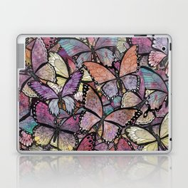 butterflies aflutter rosy pastels version Laptop & iPad Skin