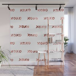 XOXO Fashion Love Rose Gold Pattern Wall Mural