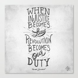 Revolution Becomes Our Duty Canvas Print