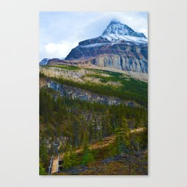 Highest Mountain in the Canadian Rockies; Mount Robson Canvas Print