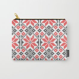 Romanian Traditional Embroidery Carry-All Pouch
