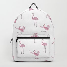 Pink Flamingo Pattern Backpack