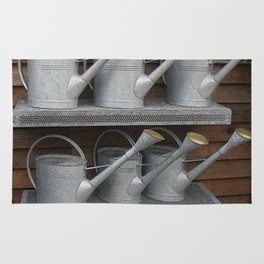 Galvanized Watering Cans Rug