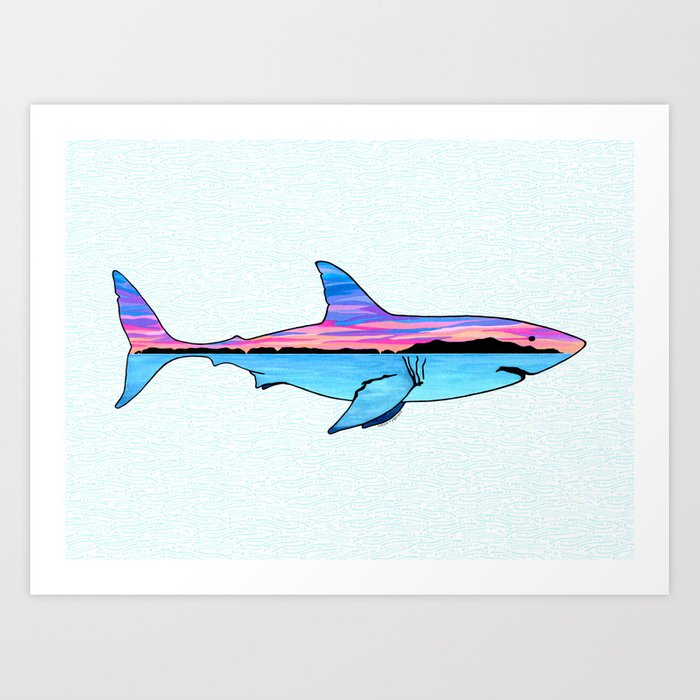 Channel Islands Great White Art Print