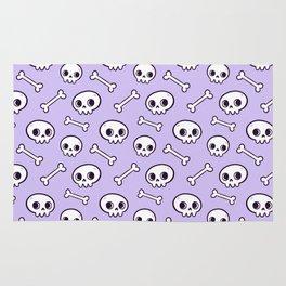 Cute Skulls // Purple Rug