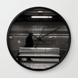 """GHOSTTRAIN of Berlin - """"VACANCY"""" zine Wall Clock"""