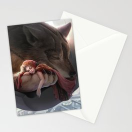 Futuristic Red Riding Hood Stationery Cards