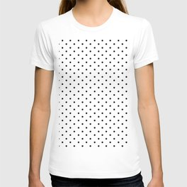 Minimal - Small black polka dots on white - Mix & Match with Simplicty of life T-shirt