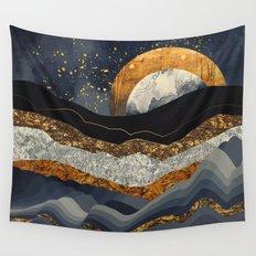 Metallic Mountains Wall Tapestry