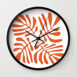 Orange Palm Fronds  Wall Clock