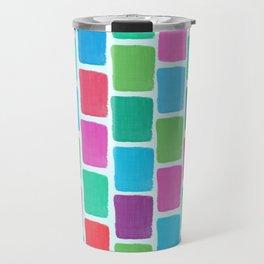 Colorful Blocks Travel Mug