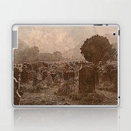 Irish Graveyard | Sepia Graveyard | Halloween Landscape Laptop & iPad Skin
