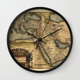 Map Of The Middle East 1600 Wall Clock