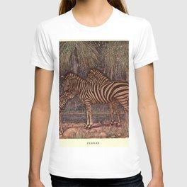 Vintage Zebra Painting (1909) T-shirt