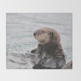 Otterly adorable Throw Blanket