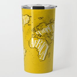 Worldmap vintage yellow Travel Mug