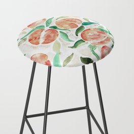 Watercolor Peaches Bar Stool