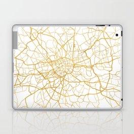 LONDON ENGLAND CITY STREET MAP ART Laptop & iPad Skin