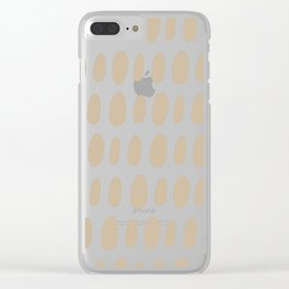 Brush Strokes Gold Clear iPhone Case