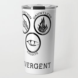 Divergent (Black) Travel Mug
