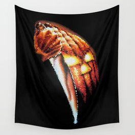 Halloween Pumpkin Stained Glass Wall Tapestry