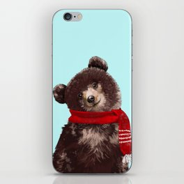 Baby bear in Christmas Mood iPhone Skin