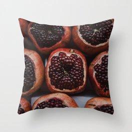 Pomegranates in Israeli Market Throw Pillow