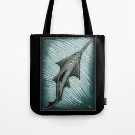"""""""Sawfish"""" by Amber Marine ~ Acrylic Painting, (Copyright 2015) Tote Bag"""