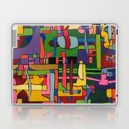 Colors in Collision 3 - Geometric Abstract of Colors that Clash Laptop & iPad Skin