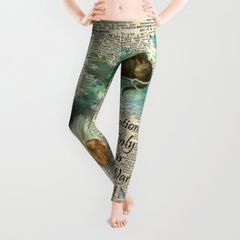Alice In Wonderland Quote - Imagination - Dictionary Page Leggings
