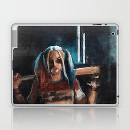 Harley Quinn - The Clown Princess Of Gotham With Her Goodnight Bat And Bubble Gum Laptop & iPad Skin