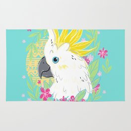 Sulphur Crested Cockatoo Rug