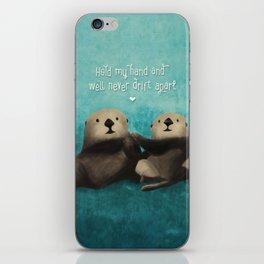 Sea Otters in Love iPhone Skin