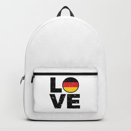 Germany Flag Shirt German Gift Idea Love Backpack