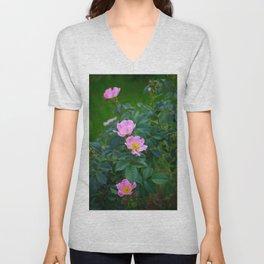 Wild rose Unisex V-Neck