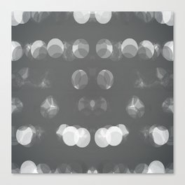 Grey Bubbles Canvas Print