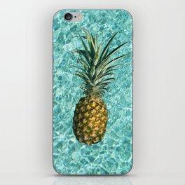 Pineapple Swimming iPhone Skin